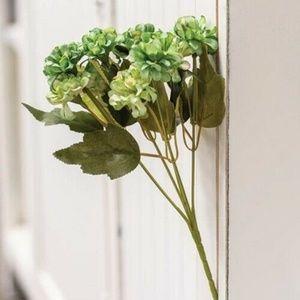 Sage Green Petite Faux Hydrangea Pick